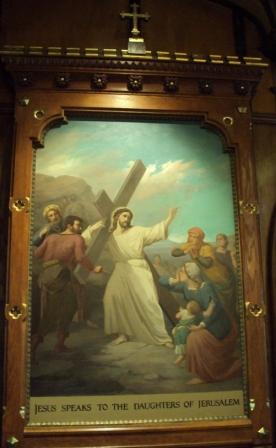 Jesus speaks to the women of Jerusalem