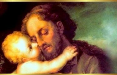 st joseph with christ